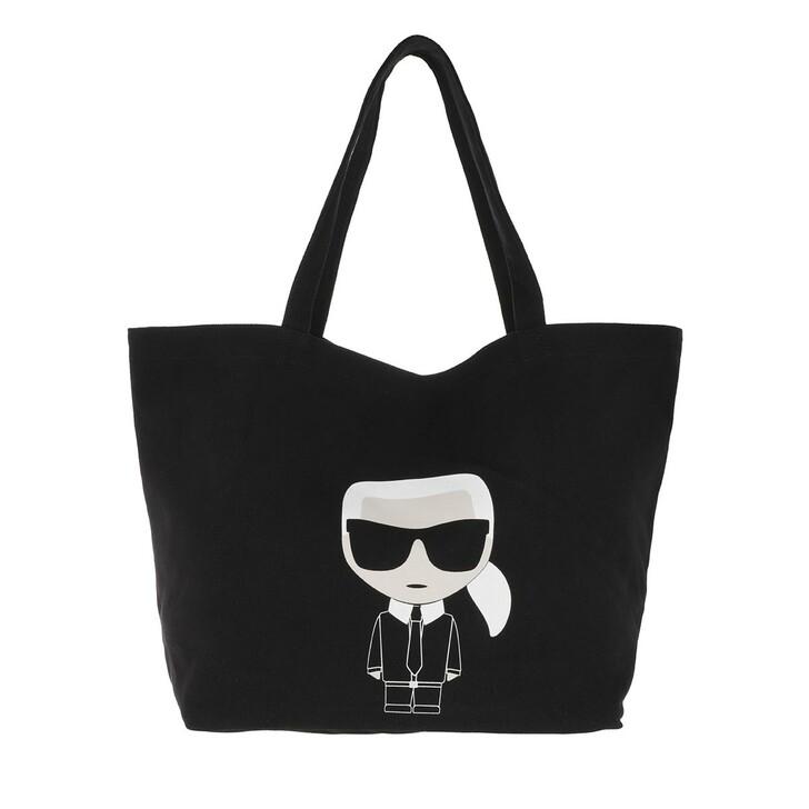 Handtasche, Karl Lagerfeld, K/Ikonik Karl Tote Black