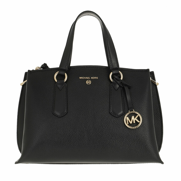 bags, MICHAEL Michael Kors, Medium Satchel Black