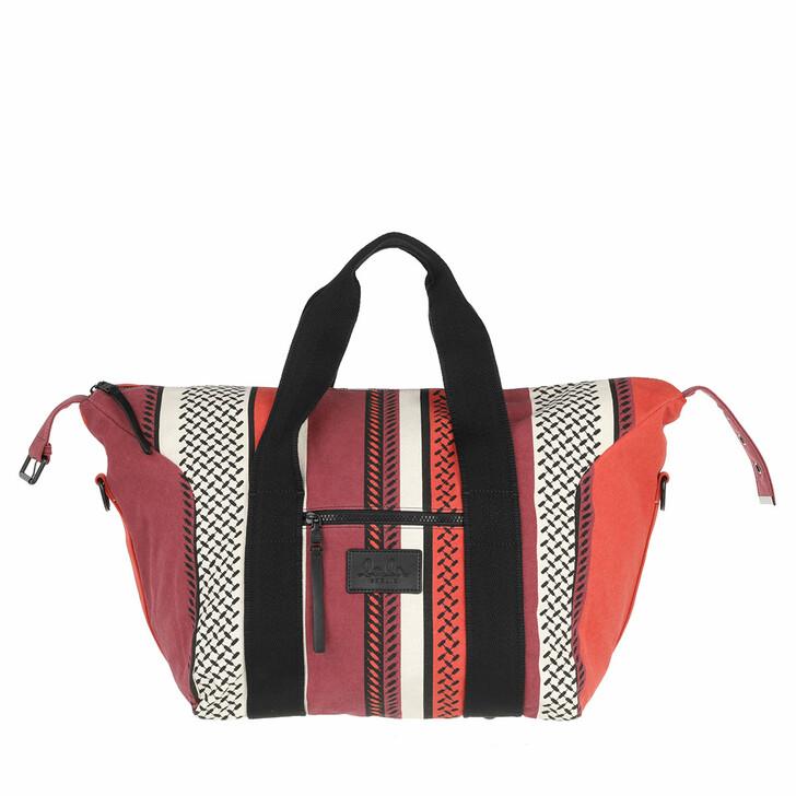 bags, Lala Berlin, Big Bag Muriel Colored Kufiya Hessian Paprika