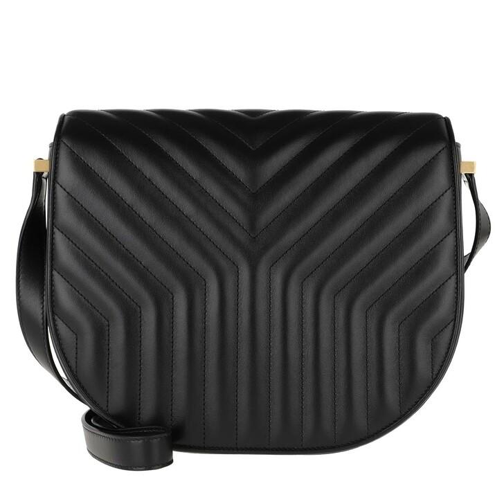 Handtasche, Saint Laurent, Joan Satchel Y-Quilted Leather Black