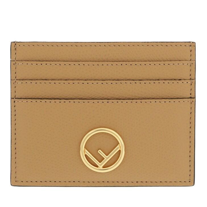 wallets, Fendi, Flat Card Holder Beige