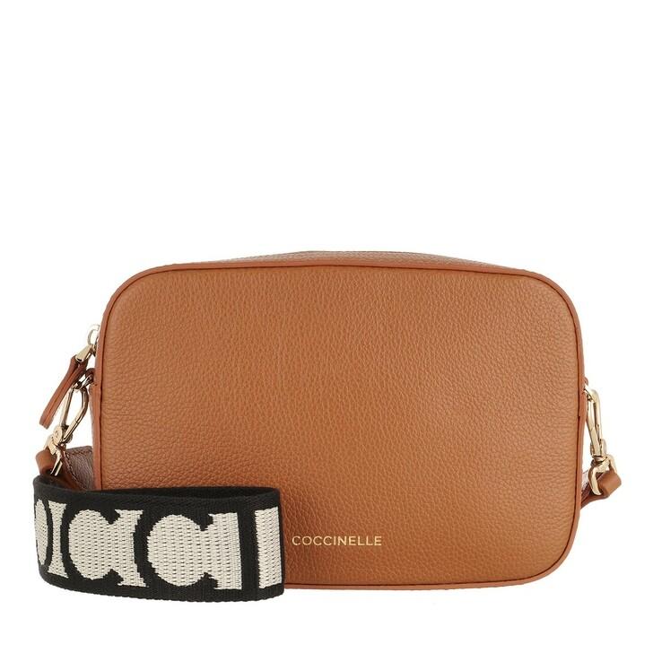 Handtasche, Coccinelle, Tebe Mini Crossbody Bag Caramel