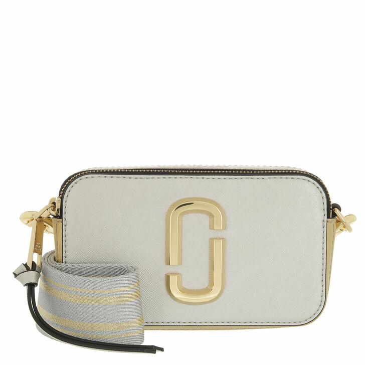 bags, Marc Jacobs, The Snapshot Crossbody Bag Leather Platinum Multi