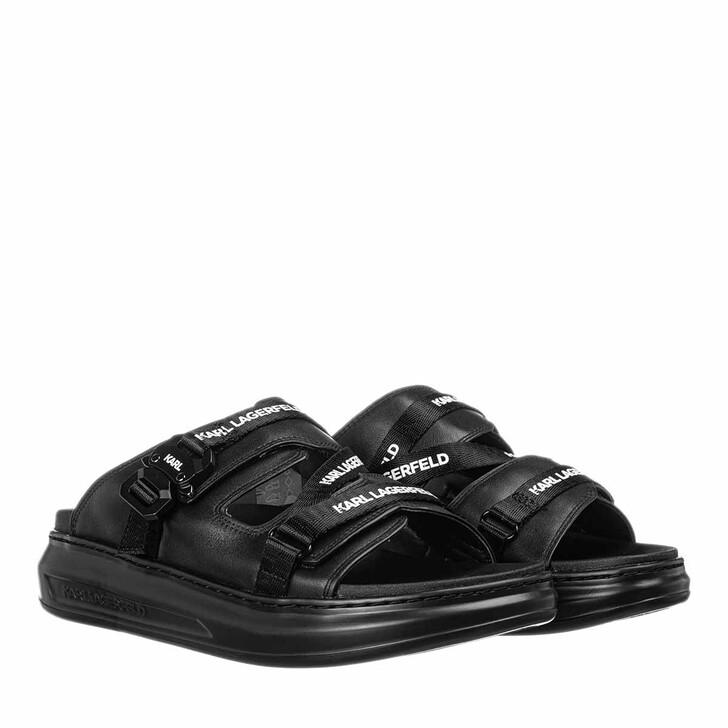 Schuh, Karl Lagerfeld, KAPRI Web Strap Sandal Black Lthr
