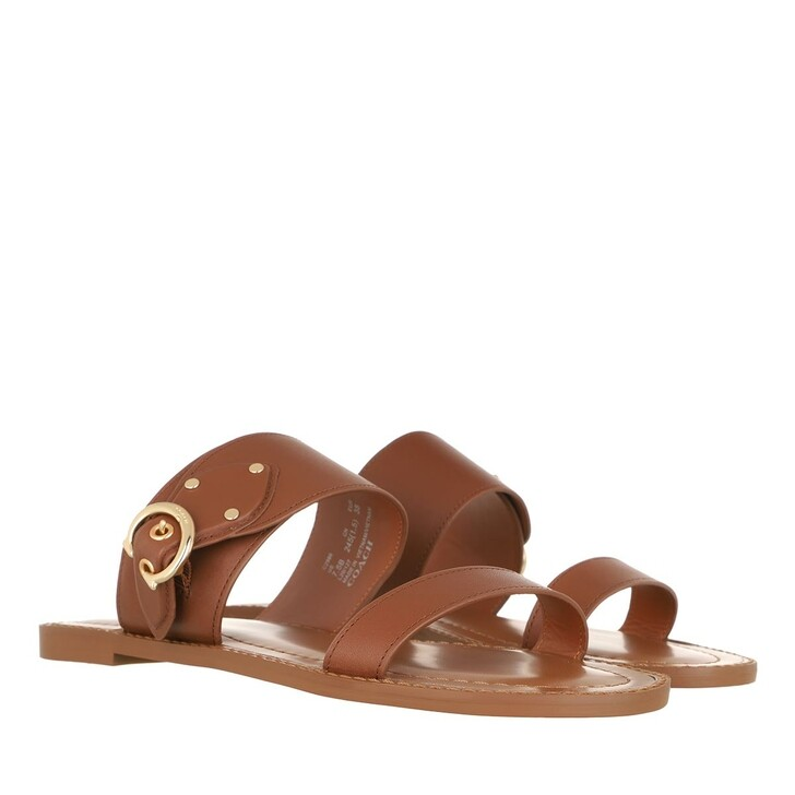 Schuh, Coach, Harlow Leather Sandal Saddle
