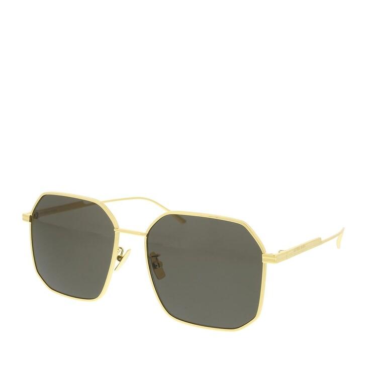 sunglasses, Bottega Veneta, BV1108SA-001 58 Sunglass WOMAN METAL GOLD