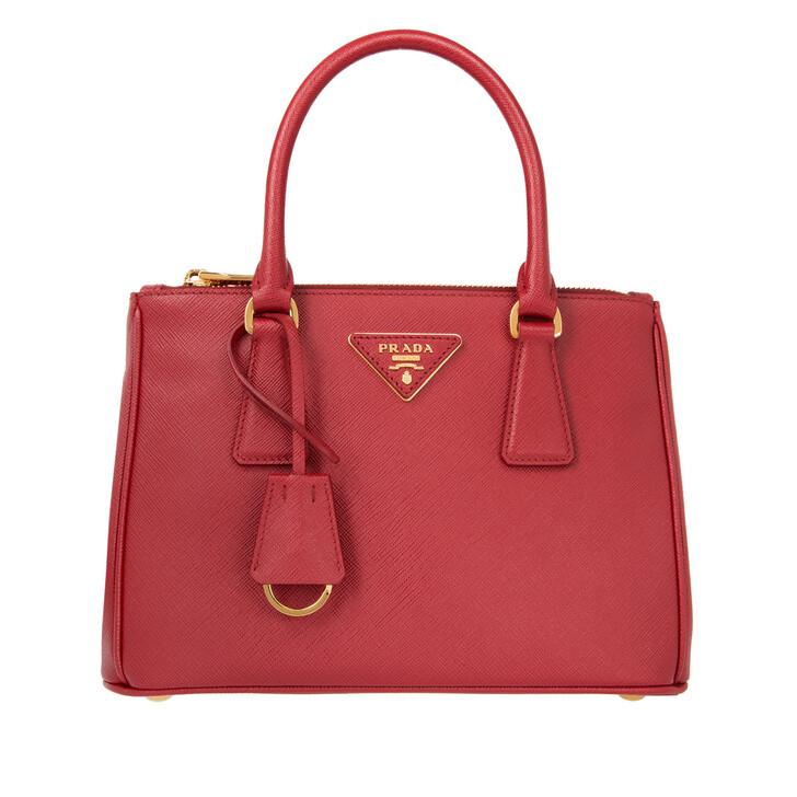Handtasche, Prada, Borsa A Mano Saffiano Lux Fuoco
