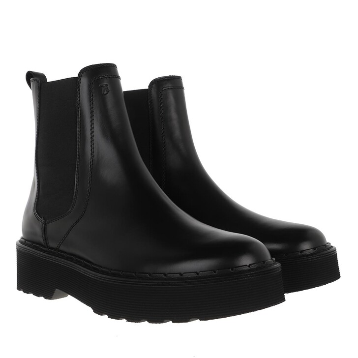 Schuh, Tod's, Ankle Boots Leather Black