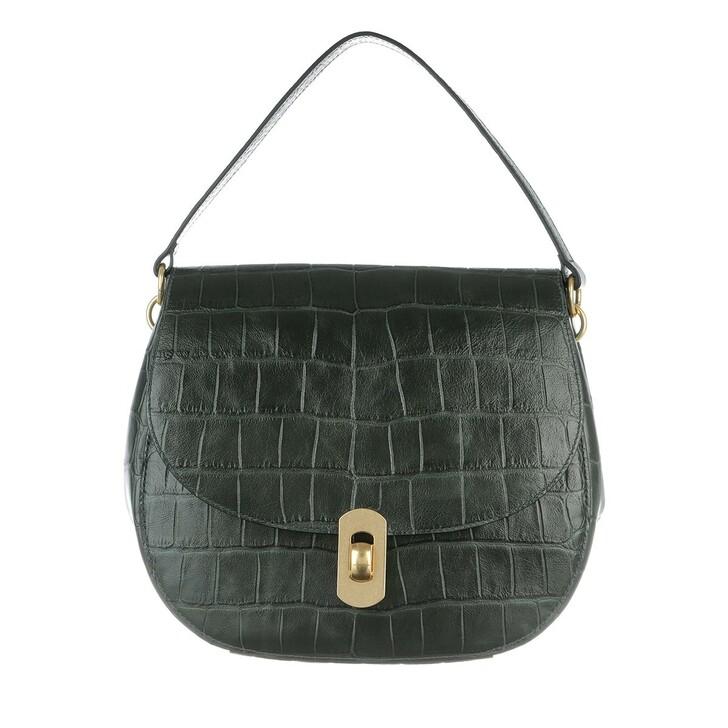 Handtasche, Coccinelle, Zaniah Maxi Crossbody Leather Mallard Green