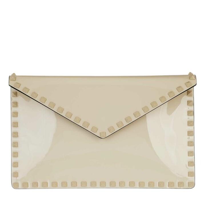 Handtasche, Valentino Garavani, Large Flat Pouch Light Ivory