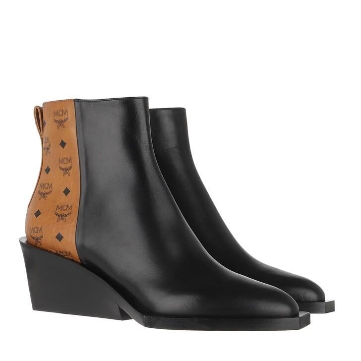 Schuh, MCM, Geometric Heel Visetos Boot Black