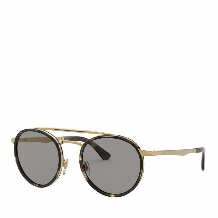 Sonnenbrille, Persol, 0PO2467S GOLD & STRIPED BROWN & SMOKE