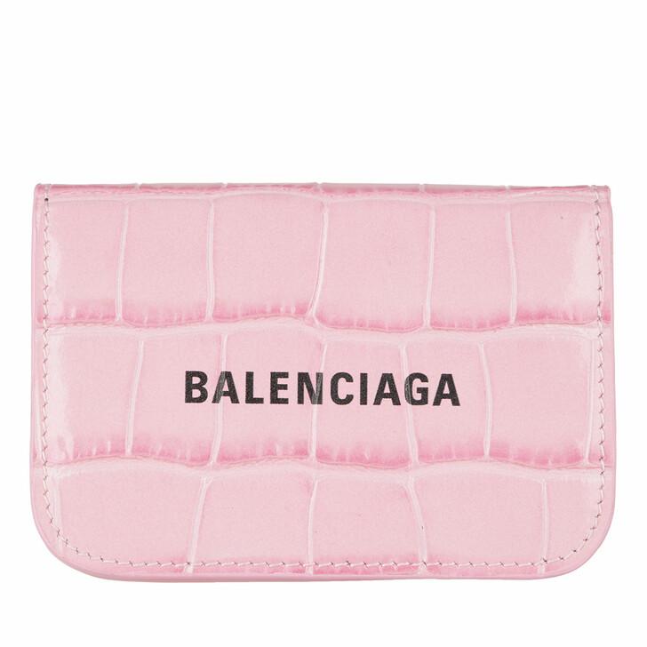 Geldbörse, Balenciaga, Mini Logo Cash Wallet Leather Pink