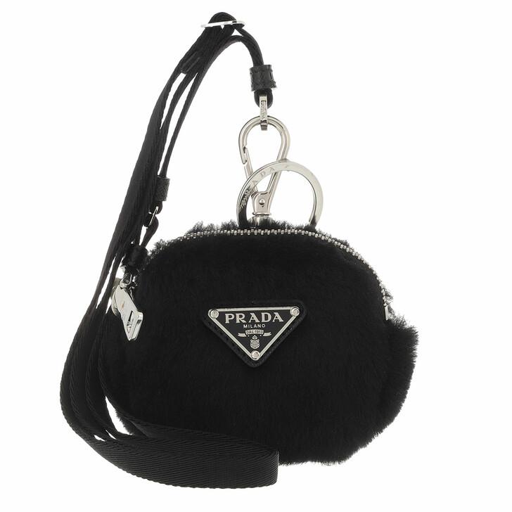 keyrings, Prada, Mini Zipped Pouch Black