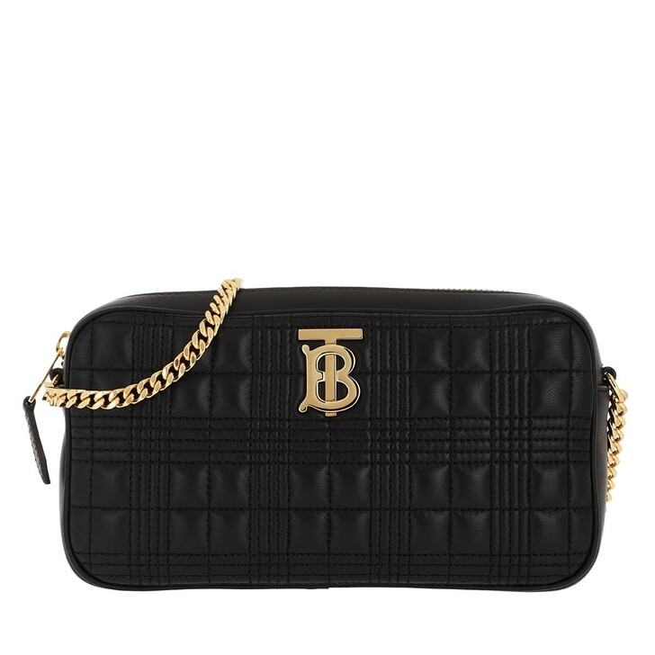 bags, Burberry, TB Quilted Shoulder Bag Black