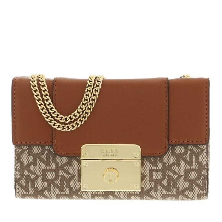 Handtasche, DKNY, Lilian Mini Box Satchel Chino Caramel
