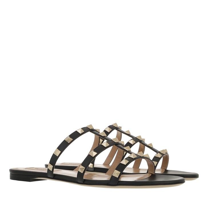 Schuh, Valentino Garavani, Rockstud Sandals Black
