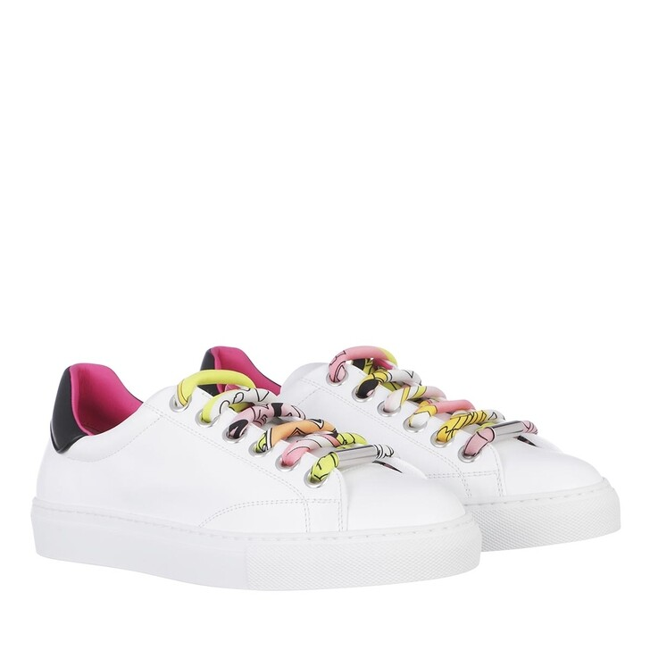 shoes, Emilio Pucci, Sneakers Solid Bianco+Rosa/Giallo