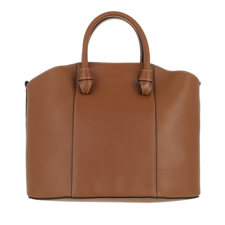 bags, Furla, Furla Miastella L Tote Cognac H