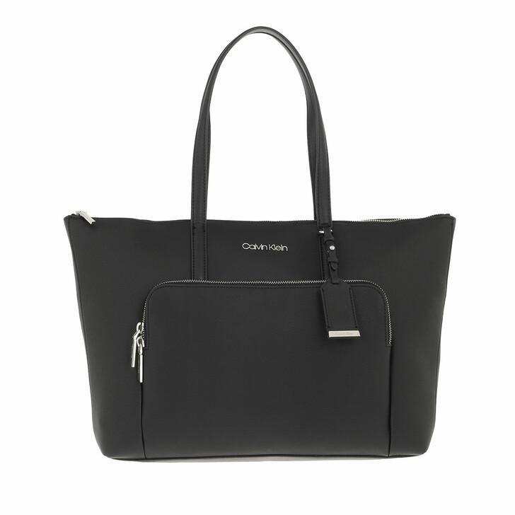 bags, Calvin Klein, CK Must Shopper Large With Pocket CK Black