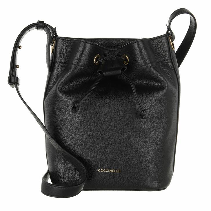 bags, Coccinelle, Handbag Grained Leather  Noir