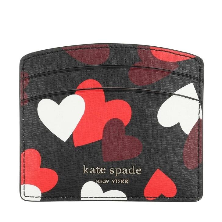 Geldbörse, Kate Spade New York, Small Bi Fold Wallet Black Multicolor