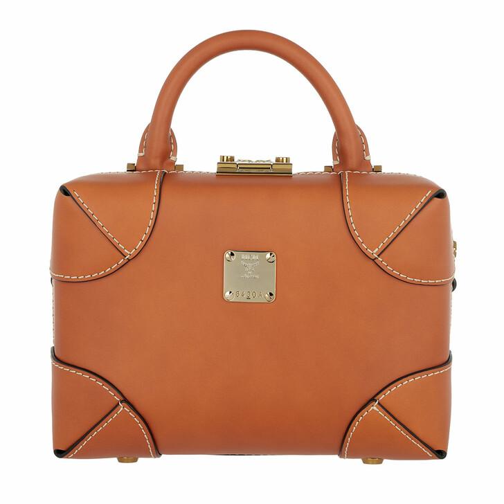 Handtasche, MCM, Soft Berlin Vachetta Crossbody Small Cognac