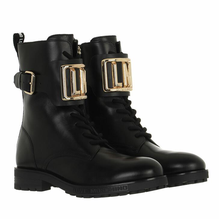 shoes, Love Moschino, Sca Nod Gommac40 Vitello  Nero