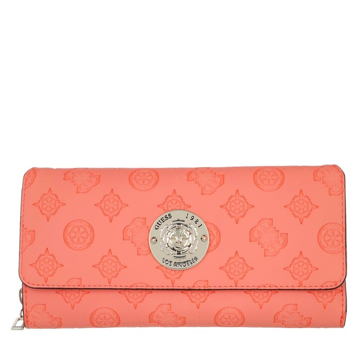 Handtasche, Guess, Dayane Large Wallet Coral