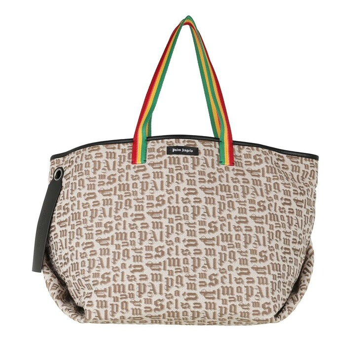 Handtasche, Palm Angels, Exodus Monogram Cabas Bag  Multicolor Beige