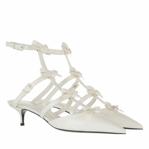 valentino garavani -  Pumps & High Heels - Ankle Strap French Bows Pumps - in weiß - für Damen