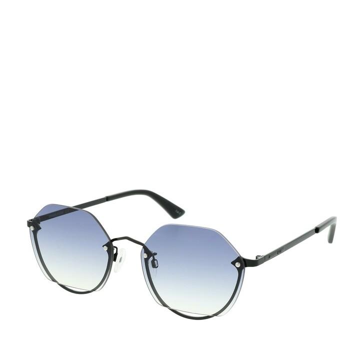 Sonnenbrille, McQ, MQ0256SA-001 58 Sunglasses Black-Black-Grey