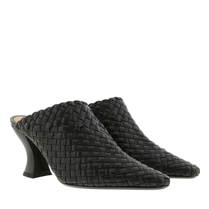 Schuh, Bottega Veneta, Almond Mules Nappa Black