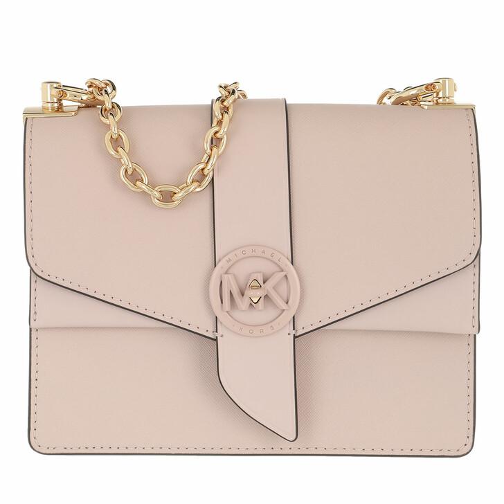 Handtasche, MICHAEL Michael Kors, Greenwich Crossbody Handbag Leather Soft Pink