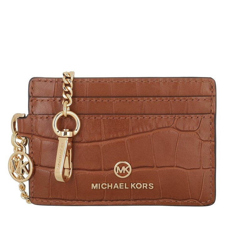Geldbörse, MICHAEL Michael Kors, Small Chain Id Crd  Chestnut