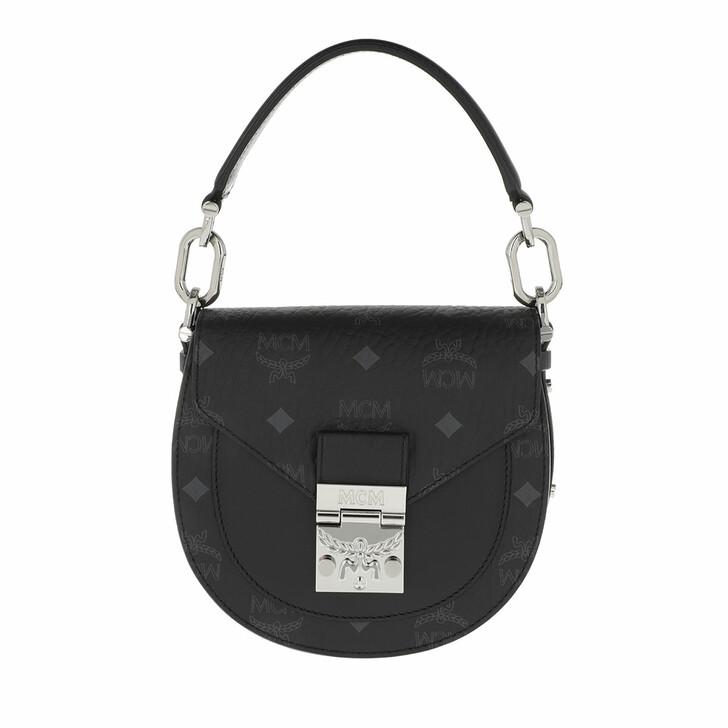 Handtasche, MCM, Mini Patricia Visetos Shoulder Bag Black
