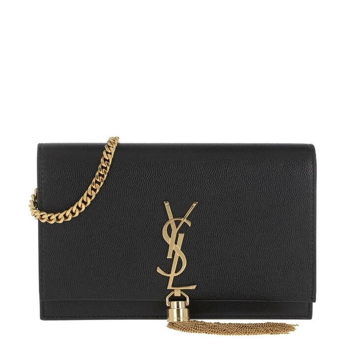 Handtasche, Saint Laurent, Kate Monogramme Chain Clutch Nero