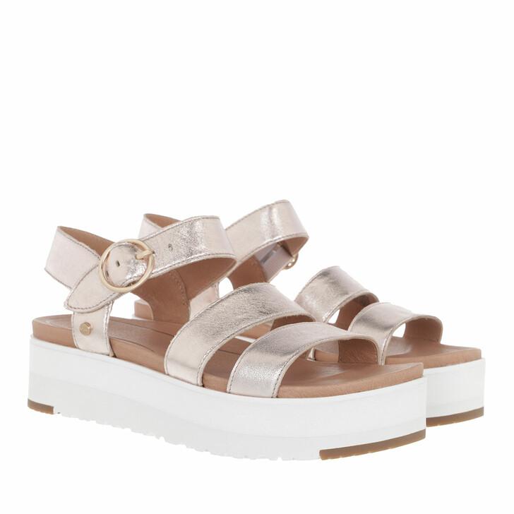 shoes, UGG, Leedah Sandal Rose Gold Metallic
