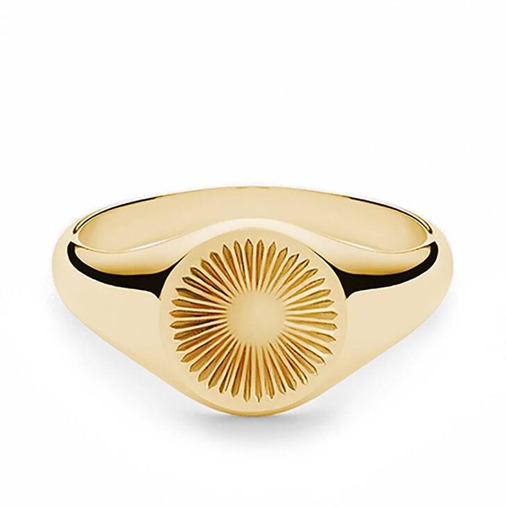 Ring, Miansai, Solar Signet Ring Vermeil Polished Gold