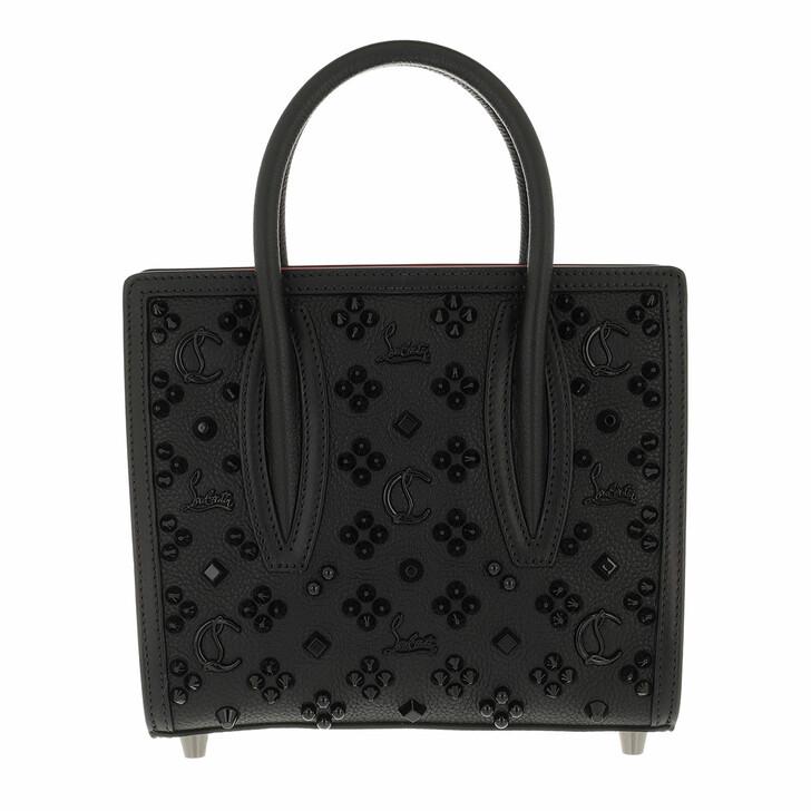 bags, Christian Louboutin, Paloma S Mini Bag Leather Black/Loubi Red