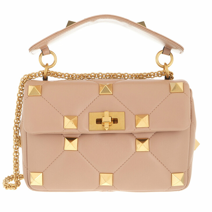 bags, Valentino Garavani, Roman Stud Medium Crossbody Bag Leather Rose