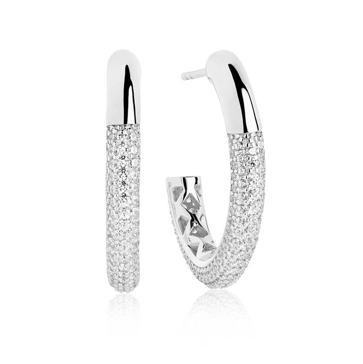 Ohrring, Sif Jakobs Jewellery, Cannara Grande Earrings White Zirconia 925 Sterling Silver