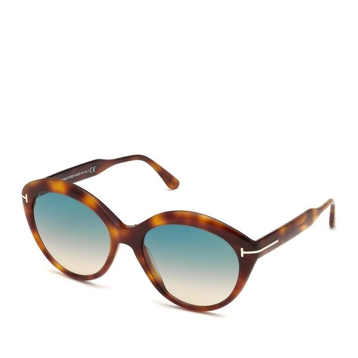 Sonnenbrille, Tom Ford, Women Sunglasses FT0763 Havanna Blond/Green