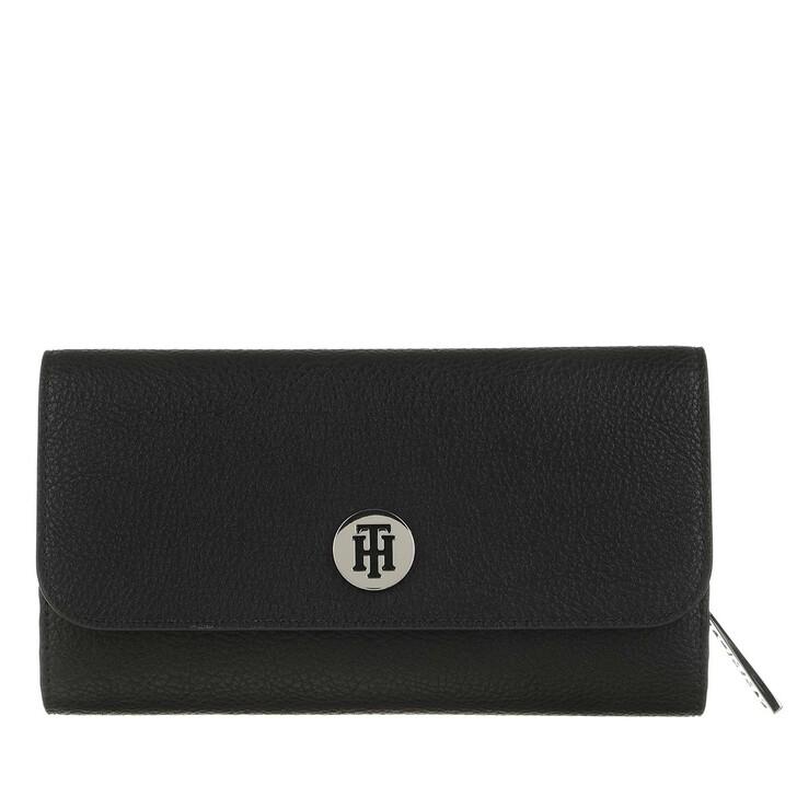 wallets, Tommy Hilfiger, Core Large Flap Wallet Black