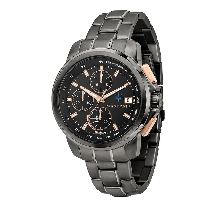 Uhr, Maserati, Successo 44mm Solar  black