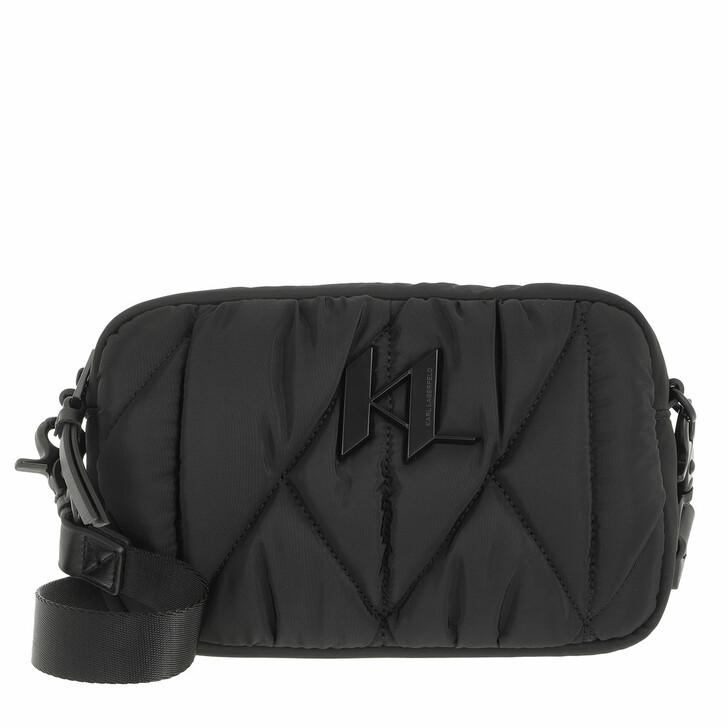 bags, Karl Lagerfeld, K/Studio Nylon Camera Bag Black