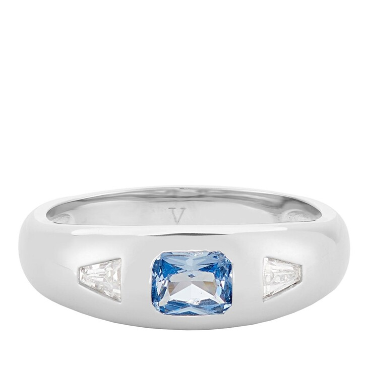 Ring, V by Laura Vann, Diana Ring Silver/Spinel Blue Stone