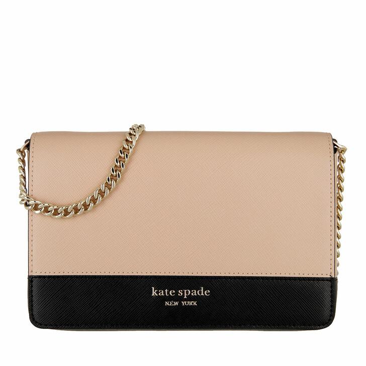 Geldbörse, Kate Spade New York, Chain Wallet  Warm Beige/Black