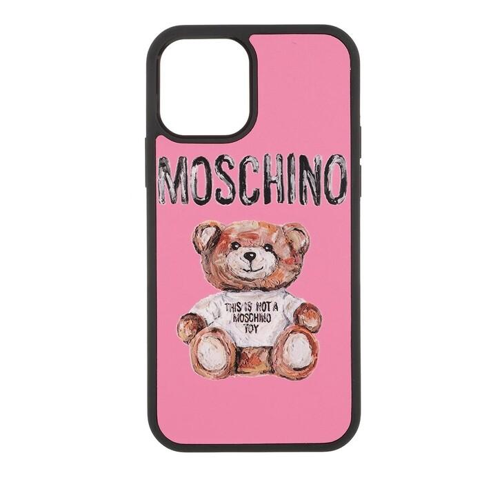 smart_cases, Moschino, Cover Orso I-Phone 12/12 Pro Fantasia Fuxia