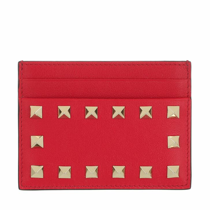 wallets, Valentino Garavani, Card Holder Leather Rouge Pur